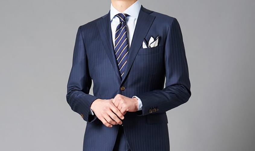 高級スーツのフィット感