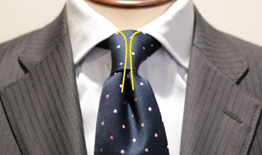 ネクタイのディンプルの仕組み