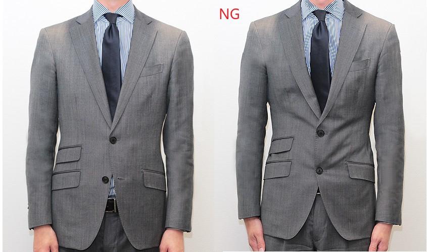 2ボタンのスーツのボタン閉め方
