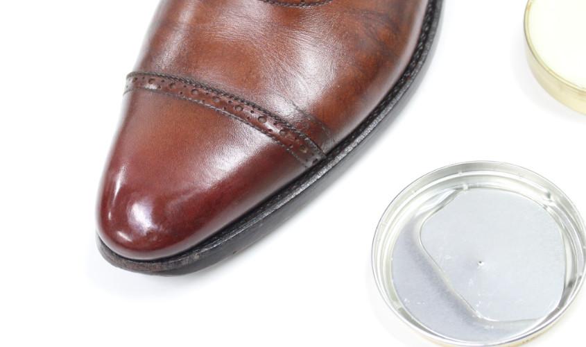 靴鏡面磨き005