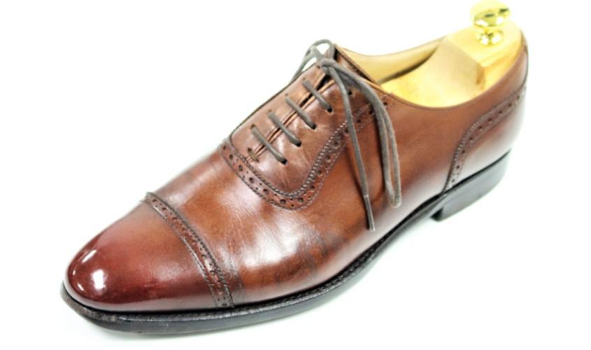靴鏡面磨き007