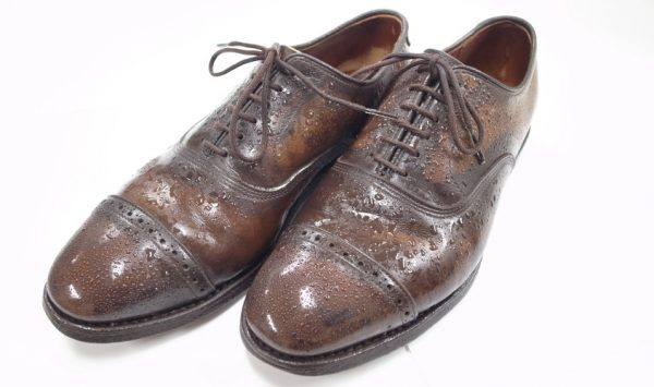 雨で濡れてしまった革靴の正しいケアの方法