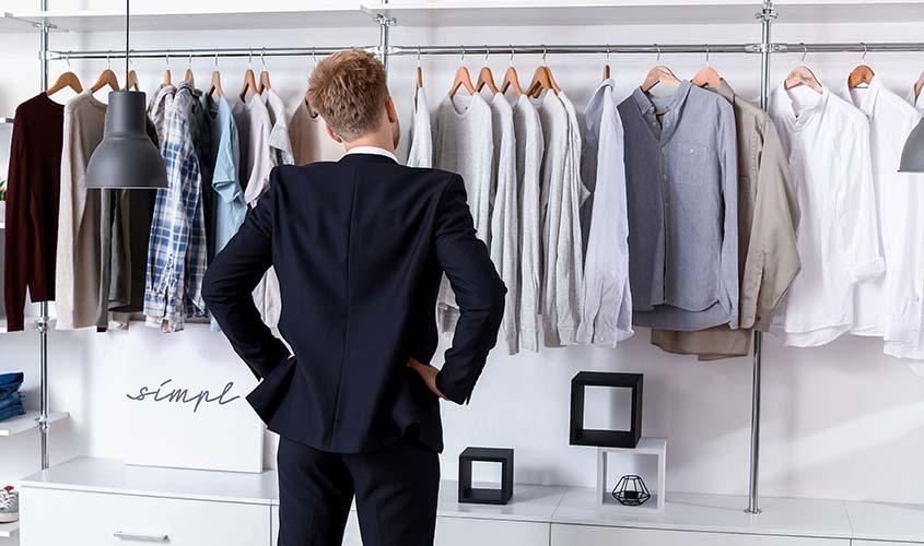 スーツのオンとオフ
