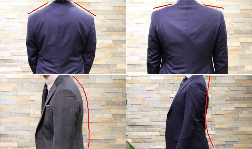 吊るしのスーツとオーダースーツの比較