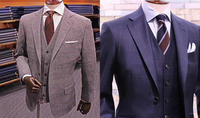 スーツの柄とネクタイの色を合わせる