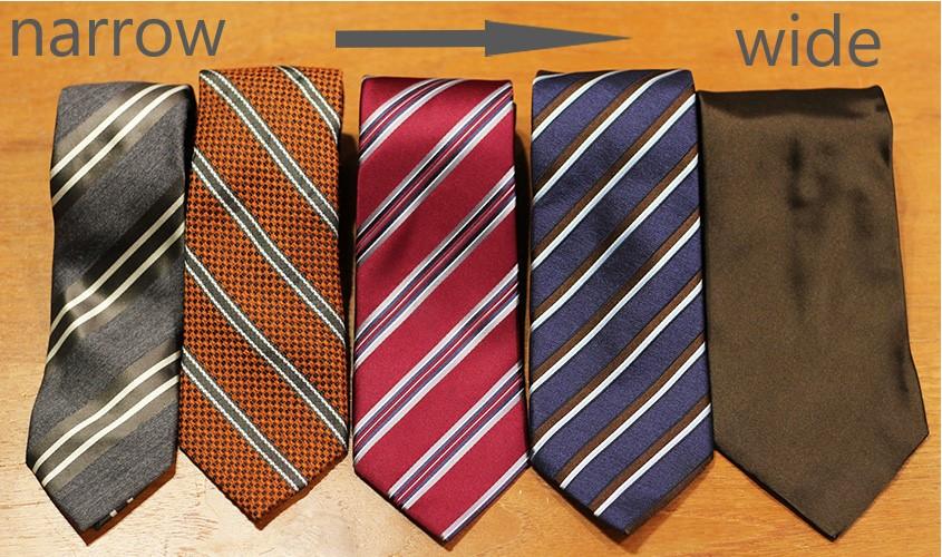 ネクタイの幅の種類