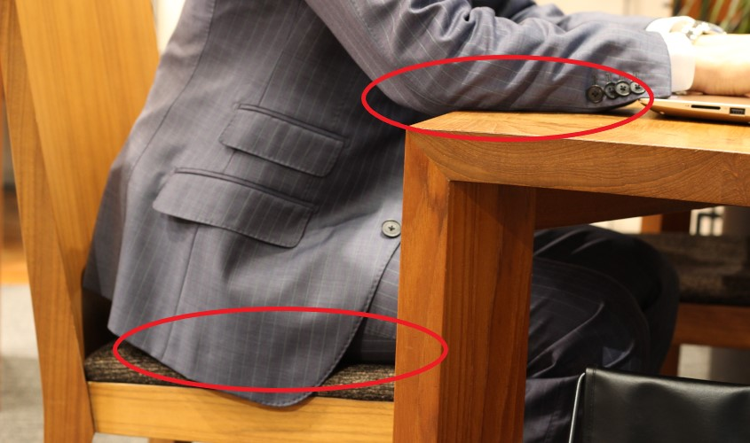 スーツのてかりを予防する