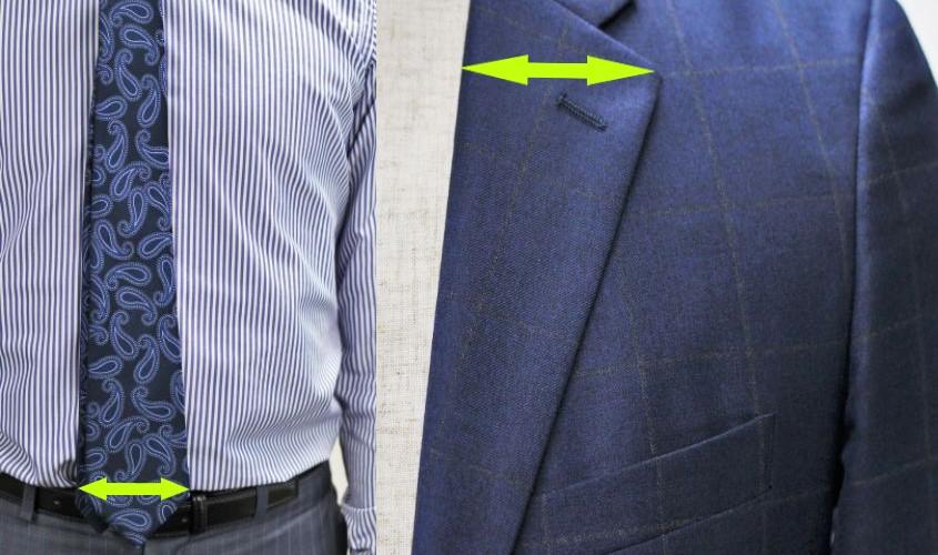 ネクタイの幅の広さとスーツの関係