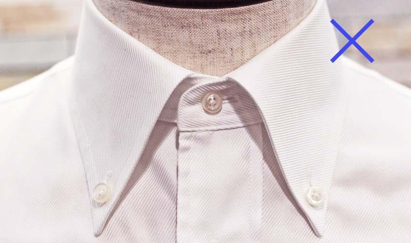 就活用に合わない白のボタンダウンシャツ