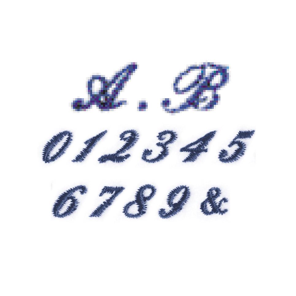 筆記体・数字